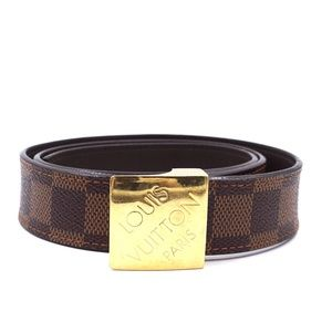 Damier Ebene Gold Buckle  Size 85 34 Belt
